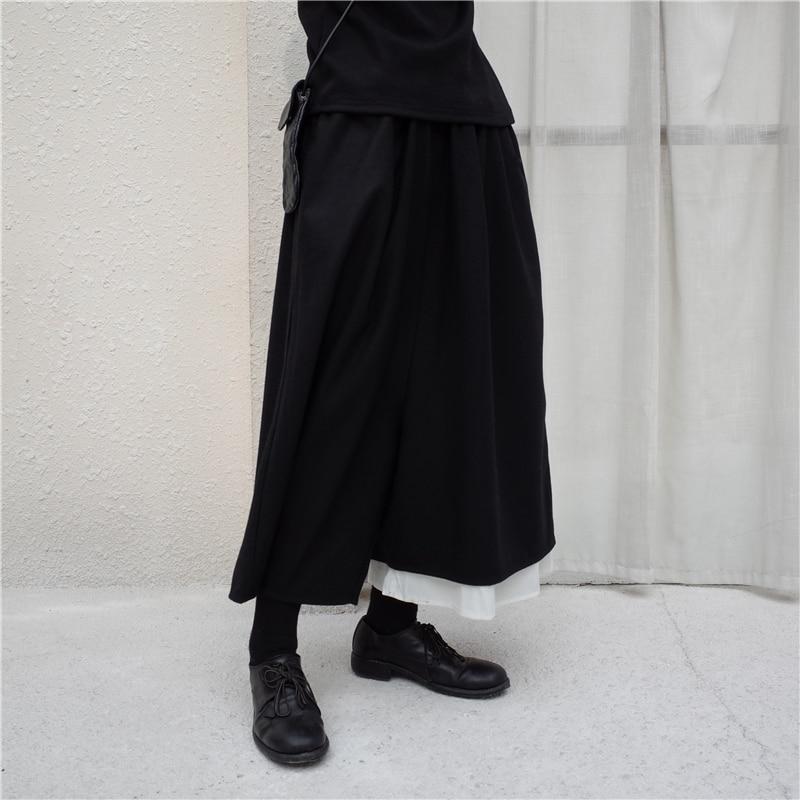2018 Frauen Männer Kleidung Haar Stylist Shirt-frauen-sommer Unsymmetrische Woll Weiß Kante Breite Bein Hosen Culottes Plus Größe Kostüme 27-44 Den Speichel Auffrischen Und Bereichern