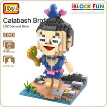 LOZ Building Blocks Figures Educational Blue Seven Calabash Brothers Toy Plastic Toy Bricks Children Toys Anime Figure DIY 9630