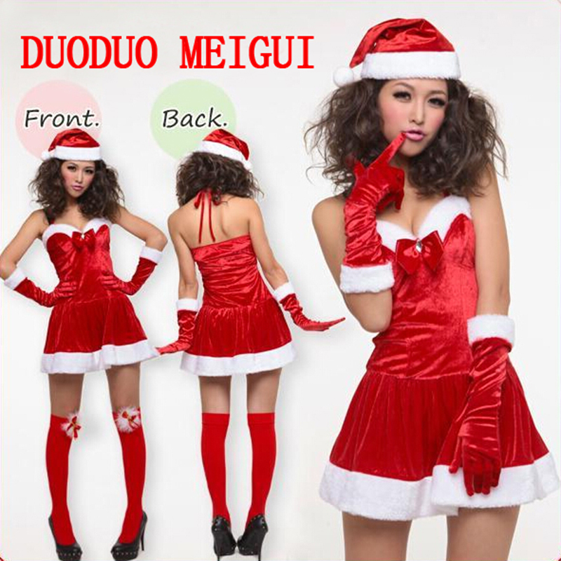 High quality Christmas new adult stage performance bar party sexy uniform Christmas temptation clothing