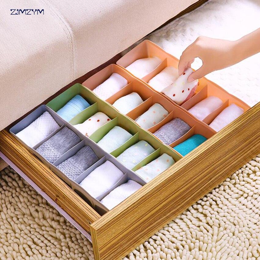 multifunctional Underwear Storage Box For Ties Socks Shorts Bra Underwear Organizer Divider Drawer Lidded Closet Organizer