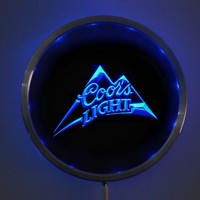 Rs 0004 Coors Light Beer LED Neon Round Signs 25cm 10 Inch Bar Sign With RGB