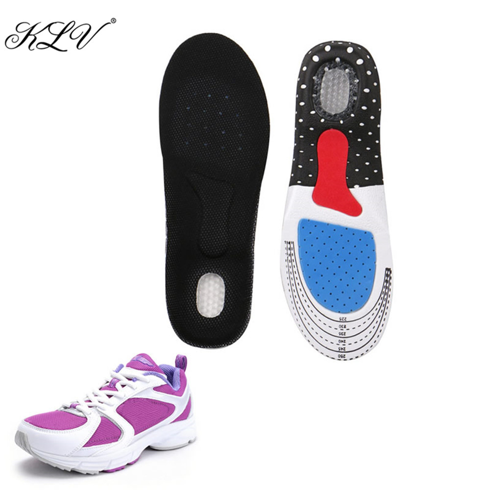 KLV Unisex Silicone Foot Gel Insoles Pads Orthotic Arch Support Shoe Pad 35-40 Size 4pcs silicone gel orthotic arch pad arch support insole flat foot relieve pain orthopedics insert new