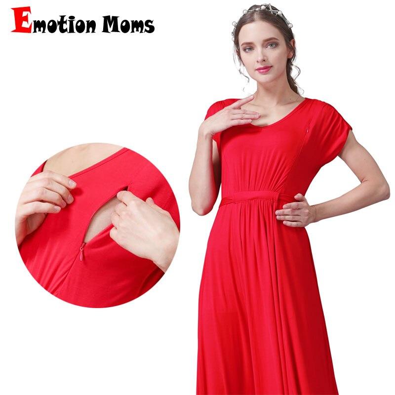 Émotion mamans longue robe d'allaitement de maternité pour les femmes enceintes vêtements d'allaitement d'été robes d'allaitement de grossesse douce