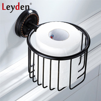 Leyden ORB Classical Toilet Paper Basket Shelf Wall Mounted Toilet Paper Holder Rack Tissue Basket Holder