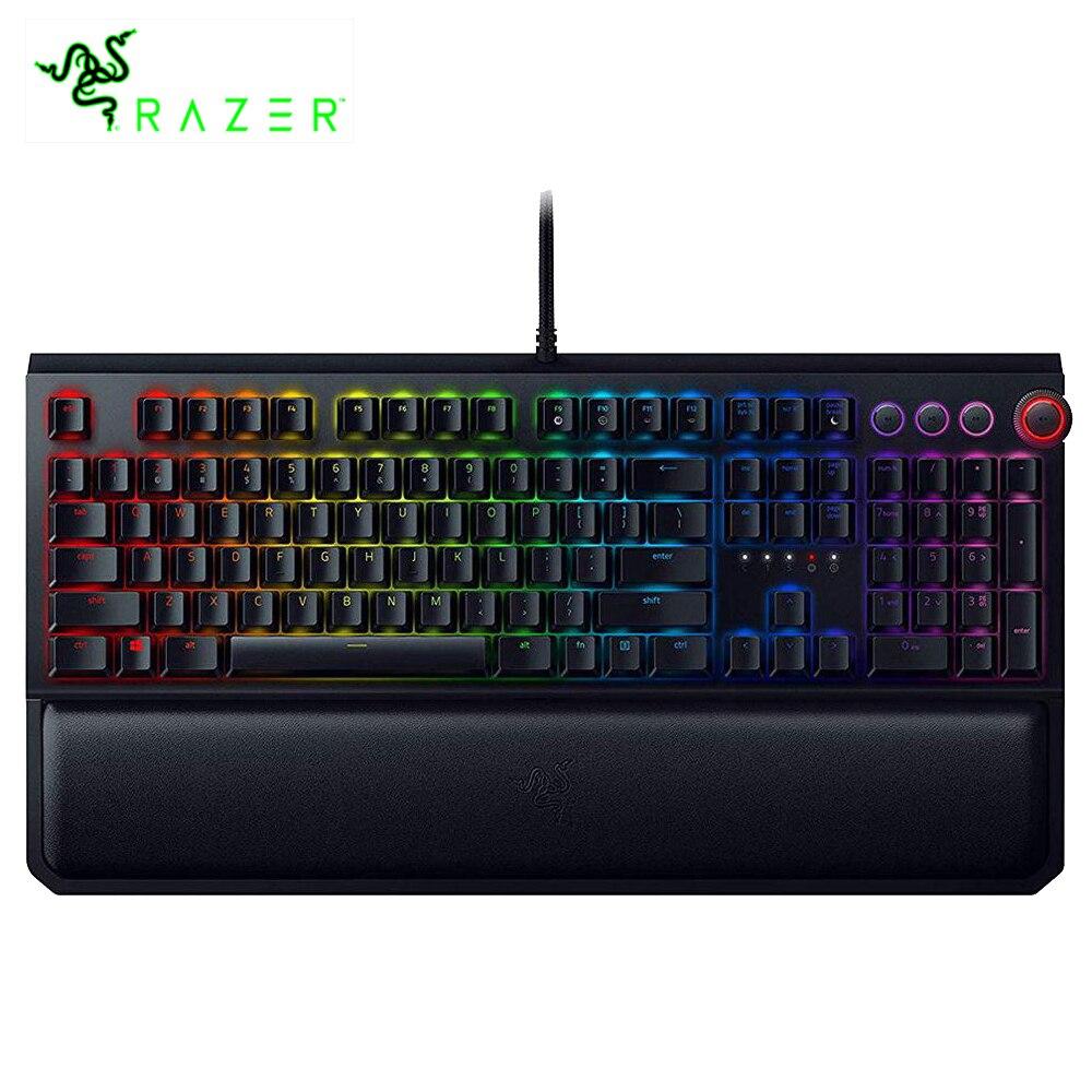 Razer BlackWidow Elite RGB Gaming Mechanical Keyboard Green Switches With Dedicated Media Controls Wrist Rest For PC Gamer