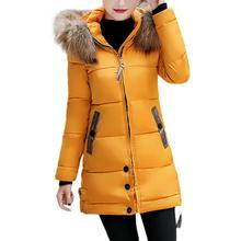 2017 Women Winter Large Fur Hooded Parkas Female Thick Warm Cotton Coat Women Wadded Winter Jackets Outwear Plus Size 3XL 17Dec1