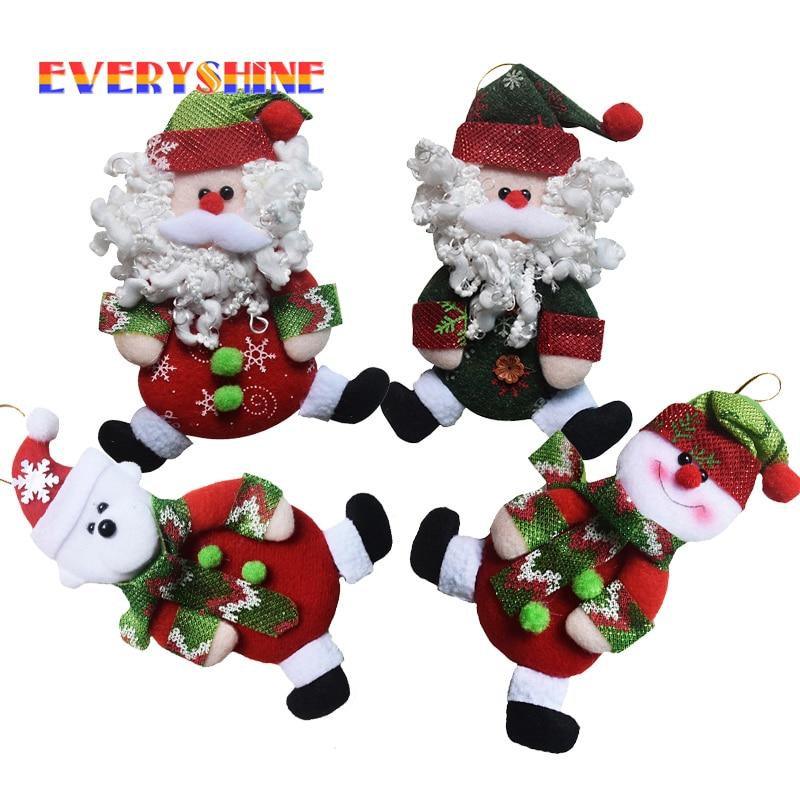Christmas cheap decorations 12pcs lot indoor santa claus for Cheap christmas ornaments