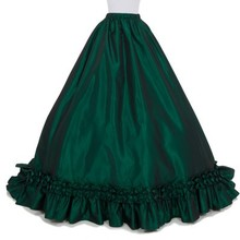 Настоящая акция, кружевное однотонное Модное бальное платье из микрофибры длиной до колена,, длинные викторианские юбки, юбка из тафты