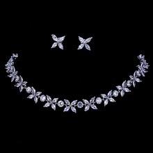 Emmaya Zircons Prachtige Crystal Ketting En Oorbellen Luxe Bridal Party Sieraden Set Voor Bruiloft Avond Gift