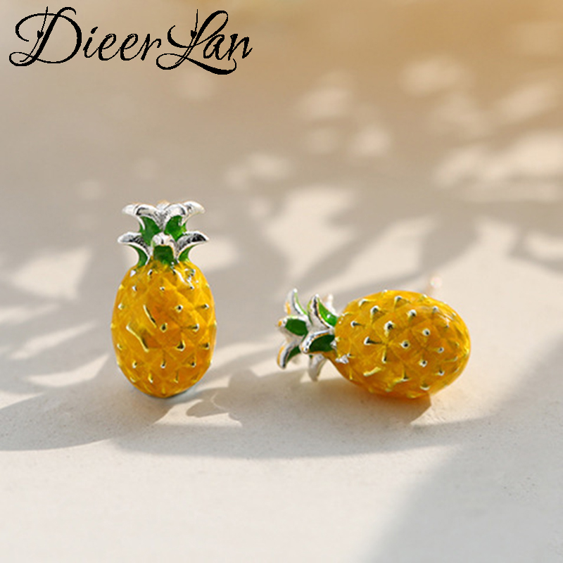 2018 New Arrivals 925 Sterling Silver Pineapple Earrings For Women Fashion Jewelry Sterling-silver-jewelry Pendientes