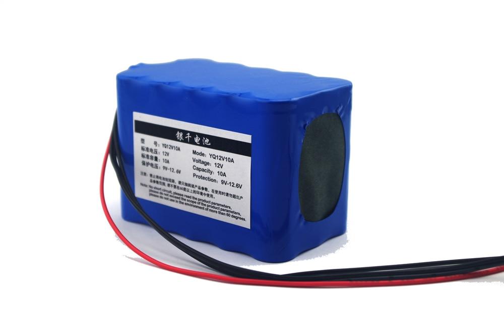 Nouvelle batterie de lampe de hernie 12 V 8AH 18650 8000 mAh batterie au lithium chronologique batterie de surveillance du charbon batterie pack