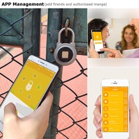 Fingerprint Recognition Bluetooth Lock APP Control Anti Theft Padlock for Gate Luggage Bicycle LCC77