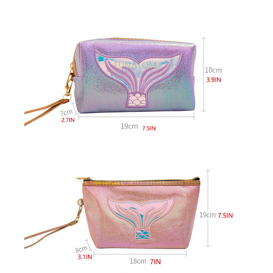 Fashion Laser Cartoon Sequin Makeup Bag Women Cosmetic Bag Zipper Make Up Pouch Travel Toiletry Organizer Beauty Vanity Case in Cosmetic Bags Cases from Luggage Bags
