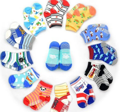 12pair/lot  Baby Girls Boy Socks  Wholesale Unisex  Non Slip Baby Socks Infant Socks 0-3yearsTWS0001
