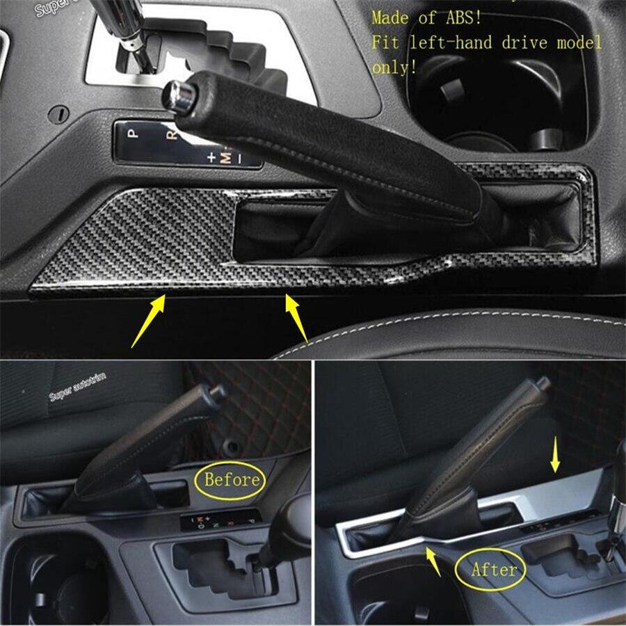 Lapetus Parking Handbrake Stop Handle Brake Panel Cover Trim Accessories font b Interior b font Fit