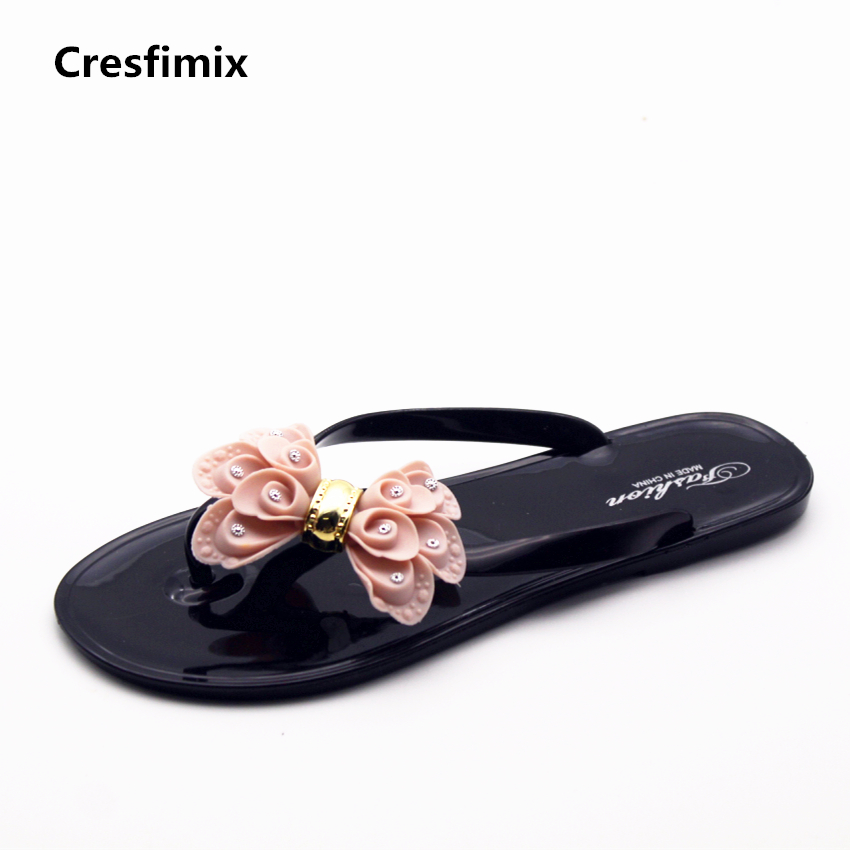 Cresfimix femmes tongs women fashion jelly summer flip flops lady cute spring & summer comfortable floral flip flops zapatos cresfimix women fashion spring