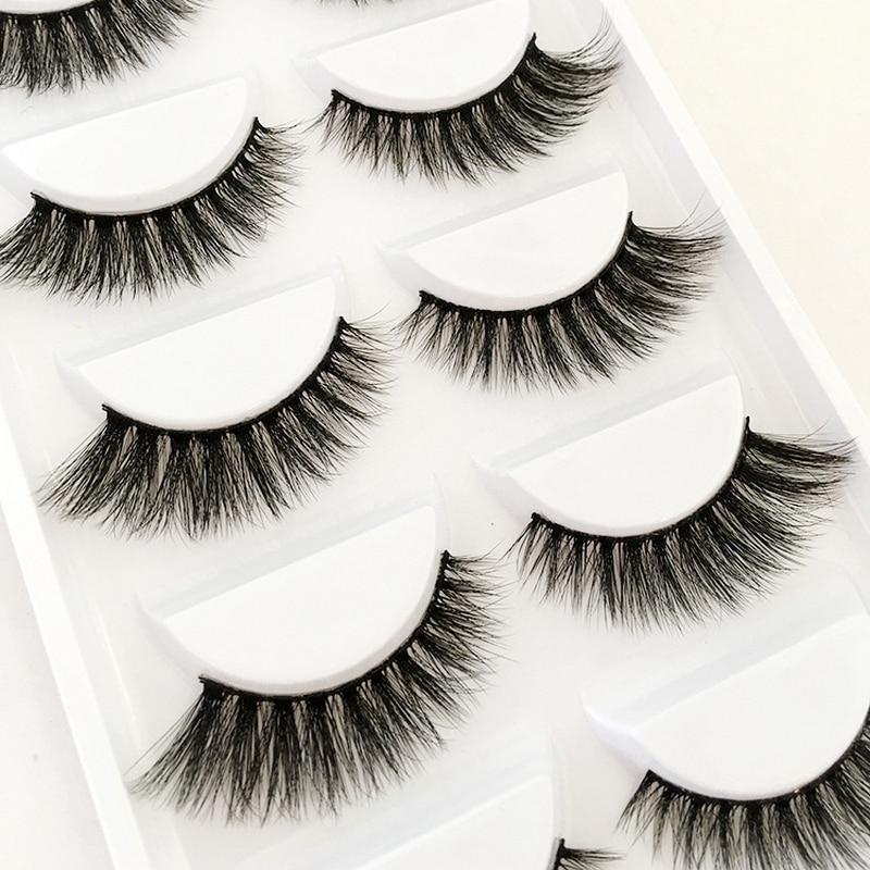 5 Pairs Fake Eyelashes Natural Long Cheap False Eyelashes Box 3d Magnetic Eyelashes Soft Eyelash