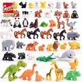 50-10 шт. Duplo Animal крупные частицы fit Legoings Duplo фигурки животных город зоопарк модель строительные блоки кирпичи детские игрушки DIY подарок - фото