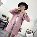 Mulheres Blusas Longas Cardigans Camisola de Malha Fina Do Vintage StyleKnitwear Senhoras 2016 Outono Inverno Estilo Coreano Roupas de Marca