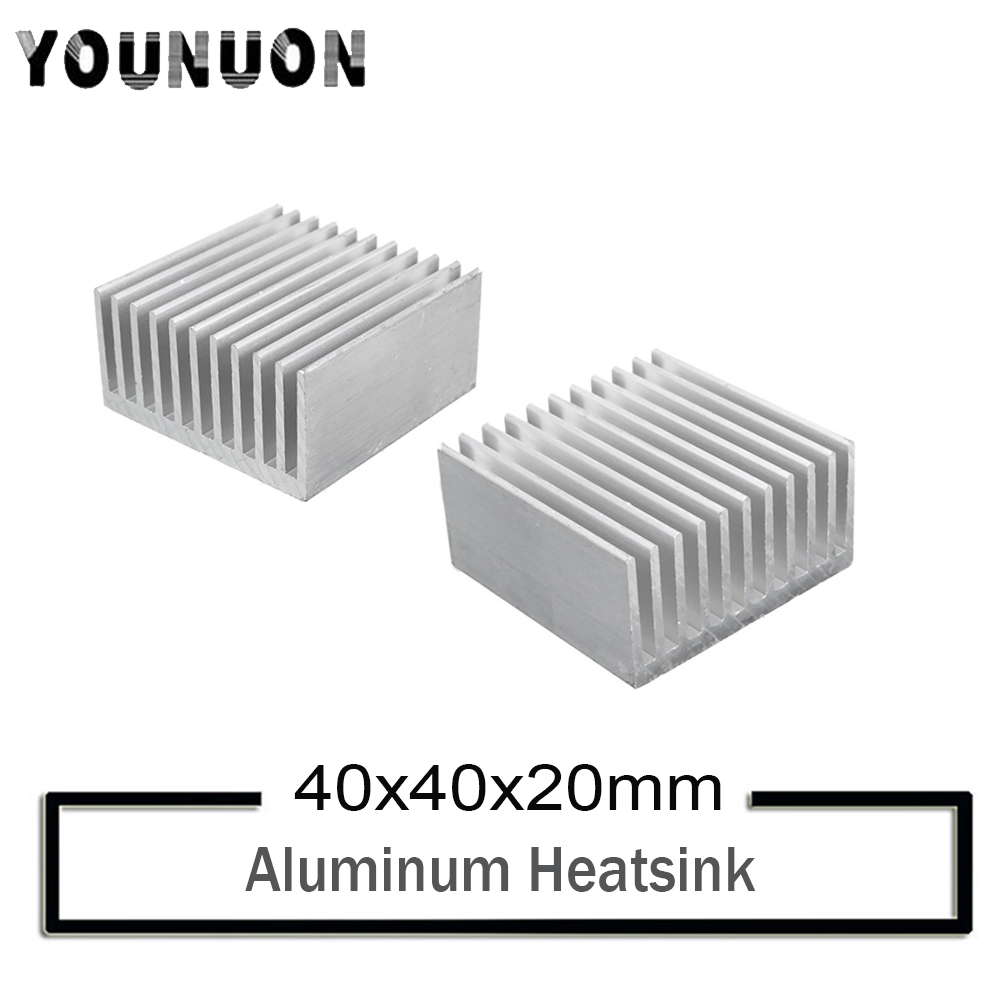 10Pcs YOUNUON 40mm Heatsink 40x40x20mm LED Aluminum Heatinks CPU GPU Card Cooling Cooler Heat Sink Heatsink