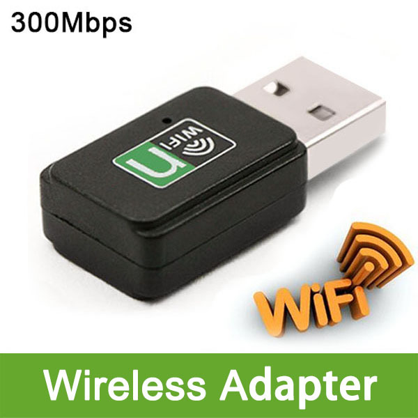 New Free Shipping Computer Pc Wlan Wifi 300Mbps Adapter Dongle Stick Antenne Usb Wireless Lan