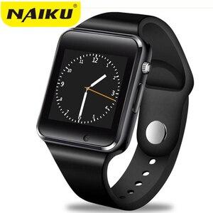 Image 1 - Fabrika A1 Kol Saati Bluetooth akıllı saat Erkekler Spor Pedometre Android Kamera Için SIM Kamera Smartwatch ile Rusya T15