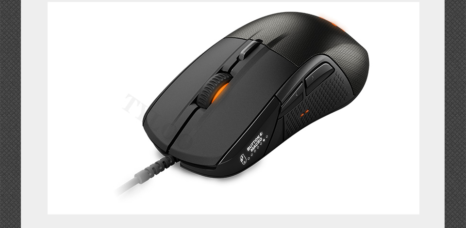 SteelSeries Rival 700 Gaming Mouse  USB Wired Mice 6500 DPI Optical Mouse Black Edition For FPS RTS MMO LOL Gamer Cheap 24
