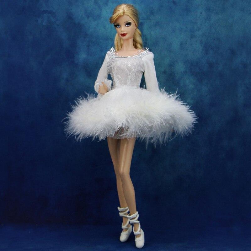 Высокое качество модные балетное платье пикантные Белая юбка + 1x носком обувь Одежда для куклы аксессуары для FR 1/6 Дети подарок GPD8525