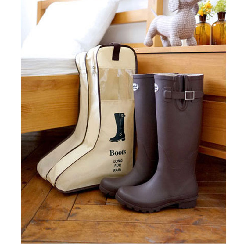 2019 Creative Design Travel Boot Bag Dustproof Visible Shoes Covers Non-Woven Waterproof Travel Totes
