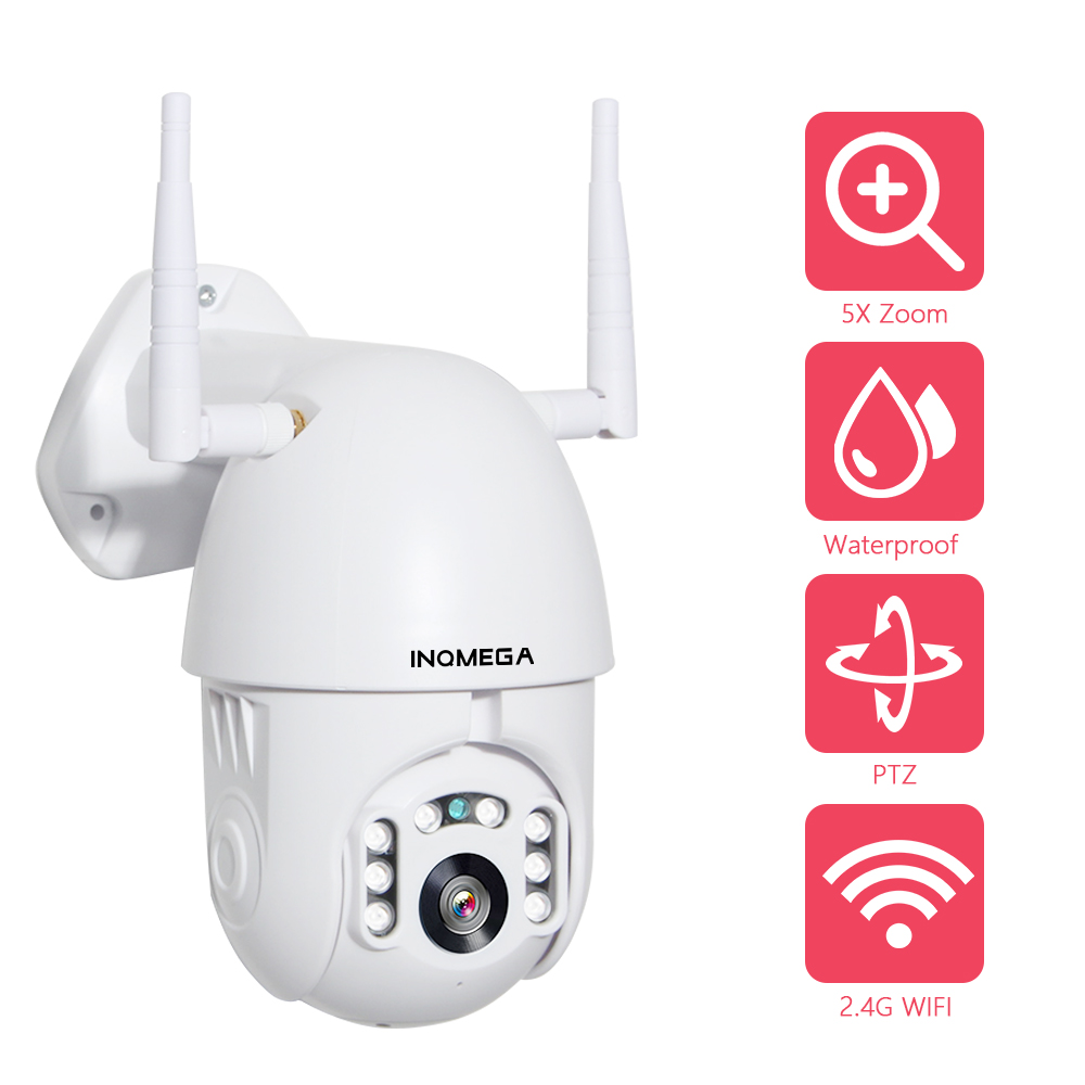 INQMEGA 2MP PTZ Speed Dome WIFI IP Camera 1080P Outdoor 5X Zoom Wireless CCTV Security Camera