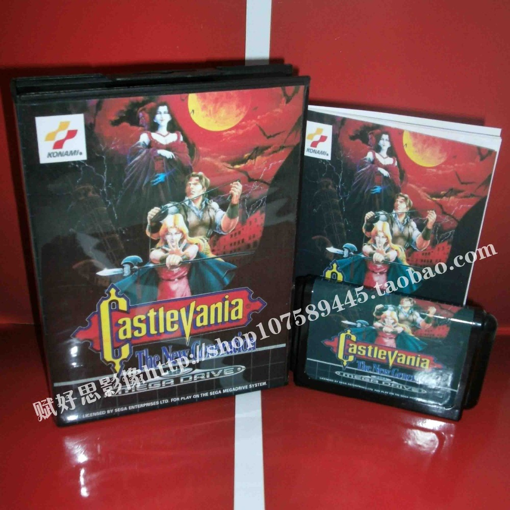 Castlevania The New Generation EU With Box And Manual 16bit MD Game Card For Sega Mega Drive /Genesis