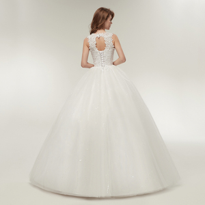 Image 3 - Fansmile Korean Lace Up Ball Gown Quality Wedding Dresses 2020  Customized Plus Size Bridal Dress Real Photo FSM 002F