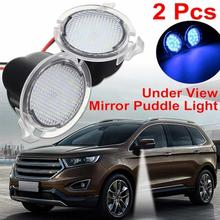 купить 2 Pcs / Set Mirror Lamp Car Rearview LED Under Side Mirror Light Car-styling Puddle Lamp Car Rearview  For Ford по цене 574.84 рублей