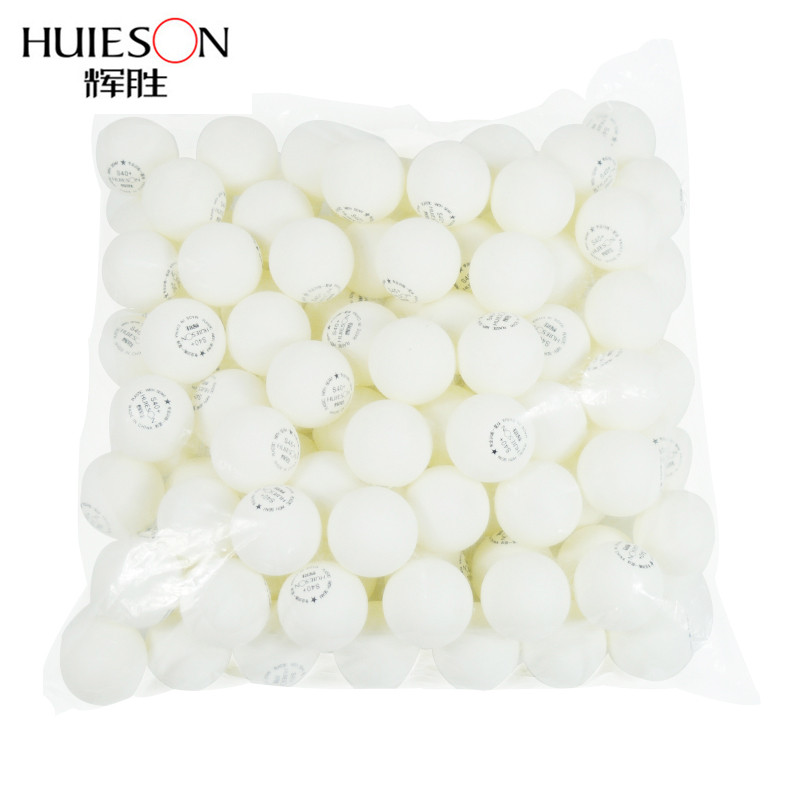 Huieson 100 Pcs 1-Star ABS Plastic Poly Table Tennis Balls Environmental Ping Pong Balls Table Training Balls S40+ 2 Colors