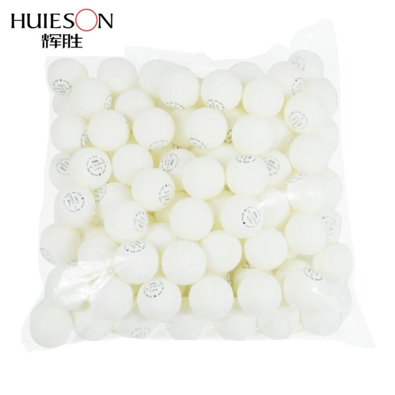 Huieson 100 Pcs 1-Star ABS Plastic Poly Table Tennis Balls Environmental Ping Pong Balls Table Training Balls S40+ 2 Colors