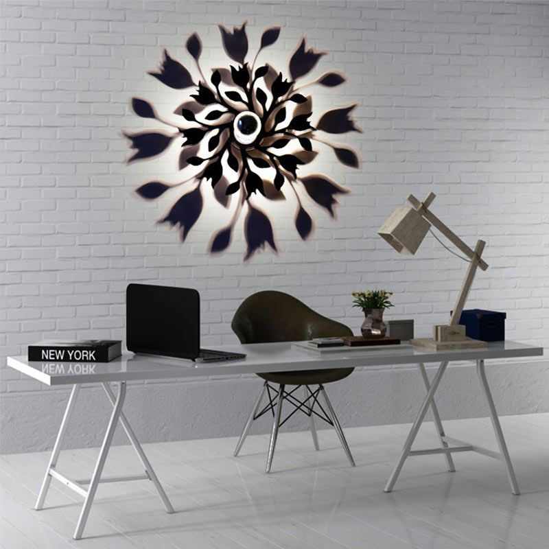 NEW Creative LED Wall Lamp Mandala Rose Flower Leaf Lamp Projection Shadow Warm Lighting Blub Nordic Acrylic Home Decor Ornament shadow projection lamp creative 201 essential button type stainless steel led home furnishing decoration