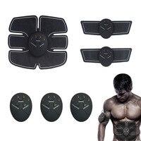 Newest Abdominal Muscle Training Stimulator Device Wireless Toning Belt Fitness Body Slimming Massager 6pcs Set Kit