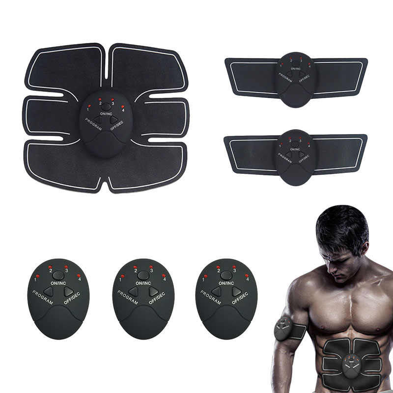 где купить Newest Abdominal Muscle Training Stimulator Device Wireless Toning Belt Fitness Body Slimming Massager 6pcs/set Kit дешево