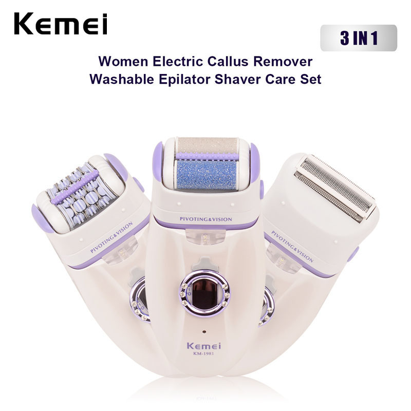 3 in 1 women electric dead skin callus remover lady epilator epilation shaver care depilatory depilation