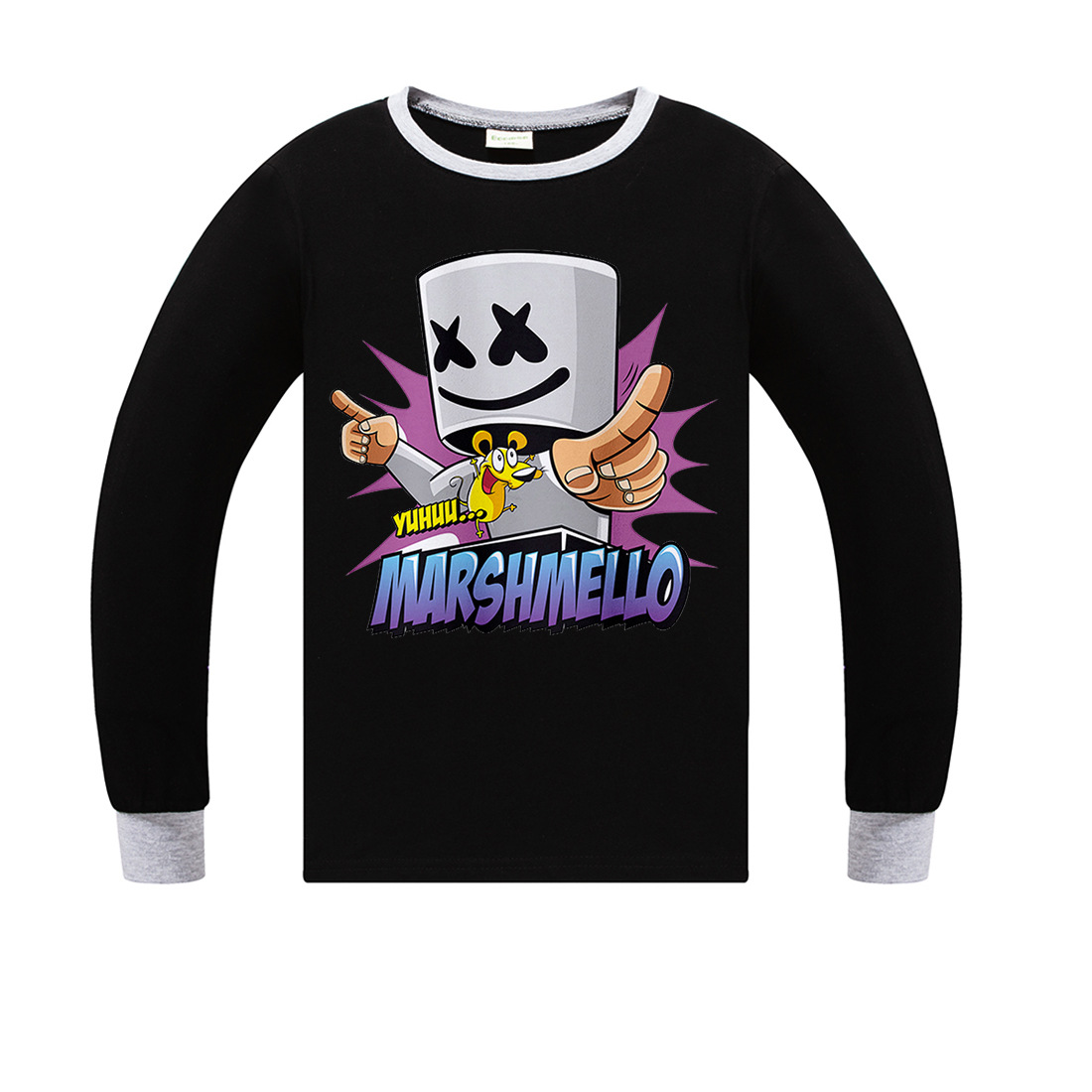 ff6ae5a0cd Children Summer New T-Shirt Marshmello Boy Clothes Fashion DJ Music Printed  Long Sleeve Tops Tees Boys Girls 100% TShirt Clothes