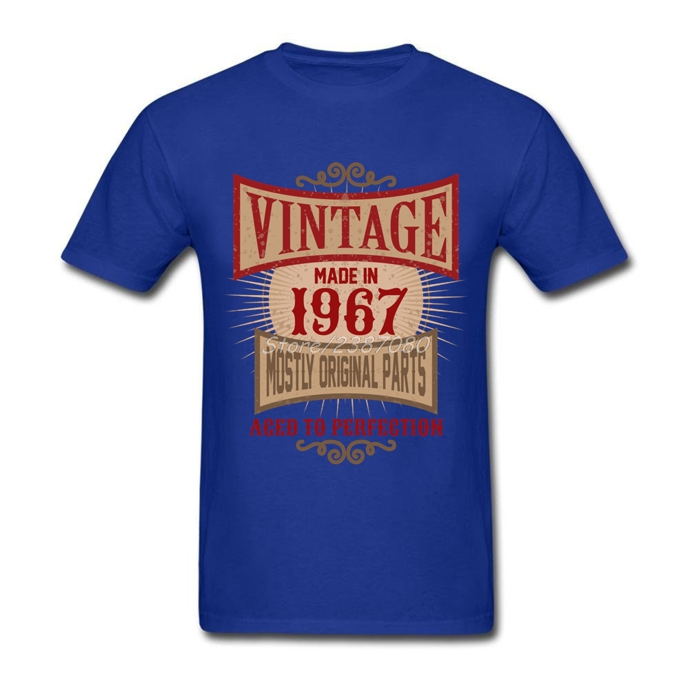 various colors speical offer multiple colors US $12.76 42% OFF|Pp Made In 1967 Retro Birthday Gift T Shirt Homme Guy  Brand Clothing O neck Cotton Big Size Short Sleeve Vintage Mens T Shirts-in  ...