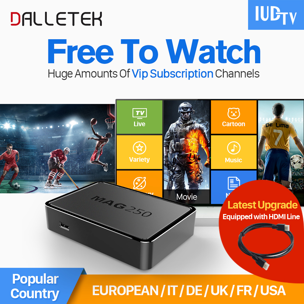 Dalletektv Mag 250 iptv Set Top box Linux STB Channels Arabic IPTV Europe French Italian IPTV Subscription 1 year IUDTV Account x92 android iptv box s912 set top box 700 live arabic iptv europe french iptv subscription 1 year iptv account code