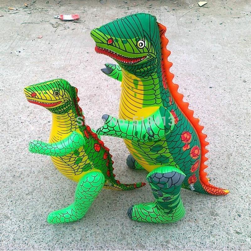 Մեծ կենդանիներ փչովի խաղալիքներ Dinosaur PVC պլաստիկ ուժեղ դաժան հրեշ տղաներ Սիրված խաղալիք Երեխաներ Ծննդյան օրվա զվարճալի նվերներ Թեժ վաճառք