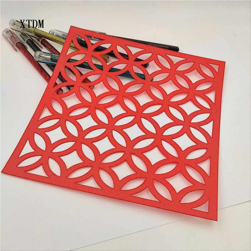 ทองแดงแผ่นพลาสติกแม่พิมพ์ shield DIY เค้ก scrapbook stencils hollow Embellishments พิมพ์ลูกไม้ไม้บรรทัดวันวาเลนไทน์