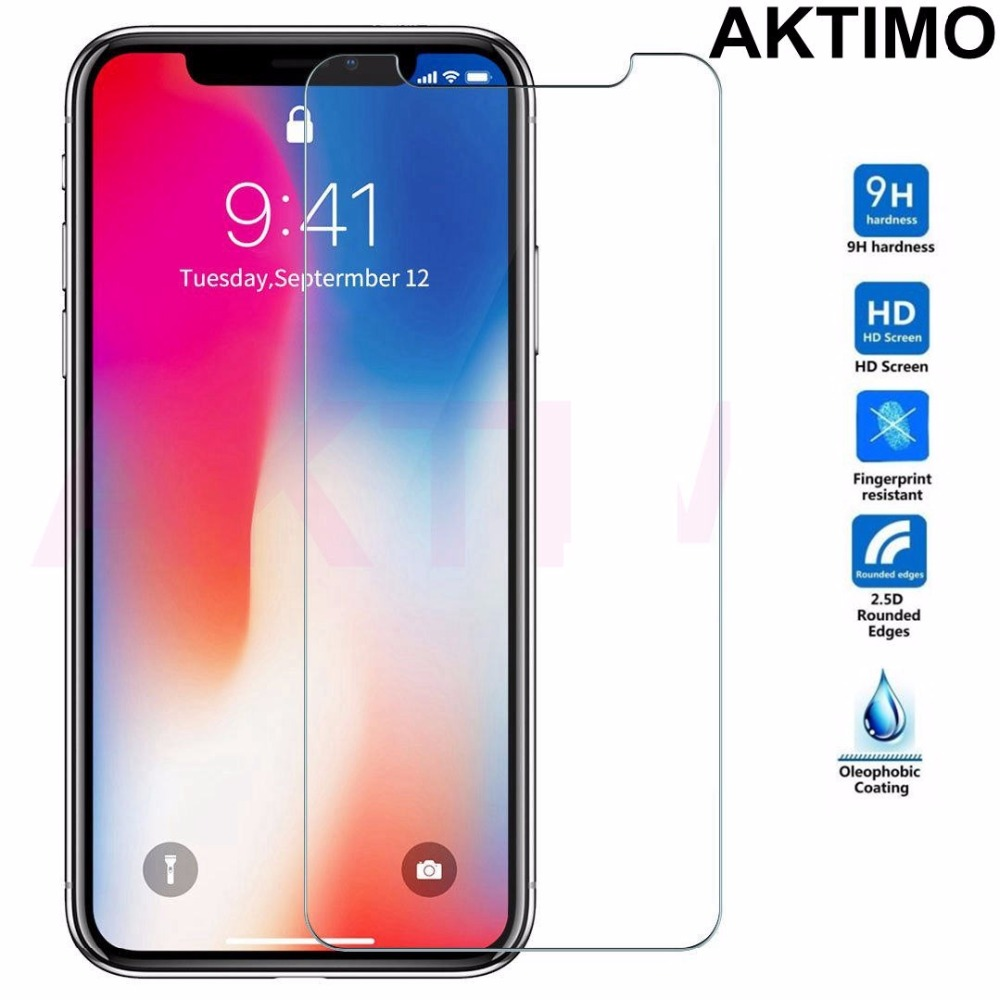 9H 0.26mm Explosion Proof Tempered Glass For iPhone X Ten