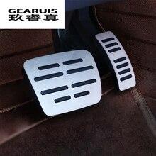 Автомобиль для укладки тормозных акселератора топлива авто покрытия для педалей наклейки для Audi Q5 A4 B8 A5 ног дроссельной заслонки интерьер авто аксессуары