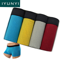 IYUNYI 4Pcs\lot New Style Underwear Men Plaid Checked Printed Modal Men Boxer Sexy Brand Cuecas Cool Mens Underwear Boxers