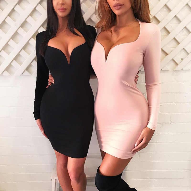 2017 neue winter frauen kleid schwarz rot nude plunge v-ausschnitt bandage kleider verband kleid Sexy abend Party Bodycon kleid + anzug