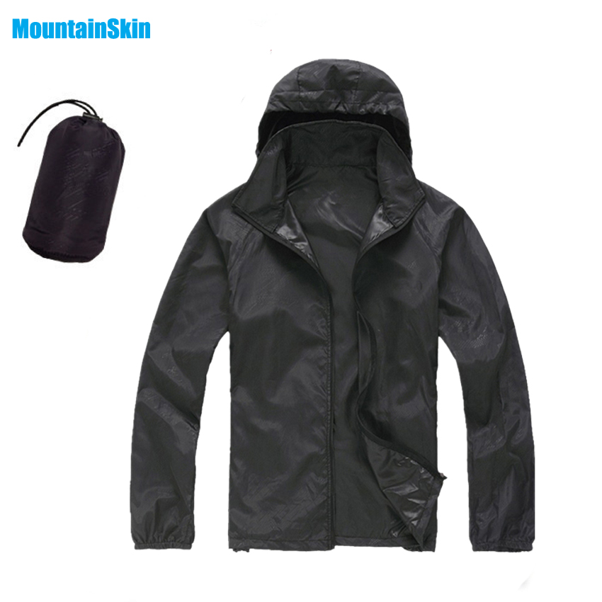 Men&Women Quick Dry Skin Jackets Waterproof Anti-UV Coats Outdoor Sports Brand Clothing Camping Hiking Male&Female Jacket MA014(China)