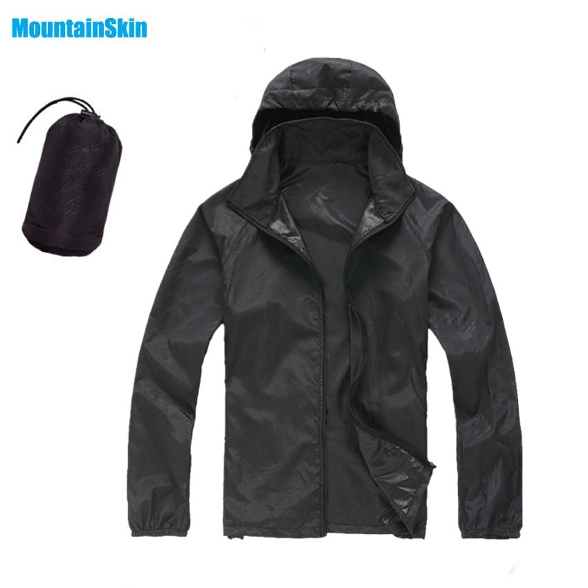 Los hombres y las mujeres piel seca rápido chaquetas impermeable anti-UV abrigos deportes al aire libre ropa de marca Camping senderismo hombre y mujer chaqueta MA014